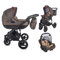 Travel System 3 in 1 Coccolle Neve Dark Grey