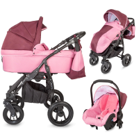 Travel system 3 in 1 Coccolle Dimona Purple