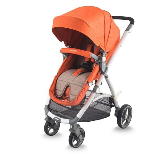 Coccolle Sereno 2 in 1 convertible stroller Brick Red
