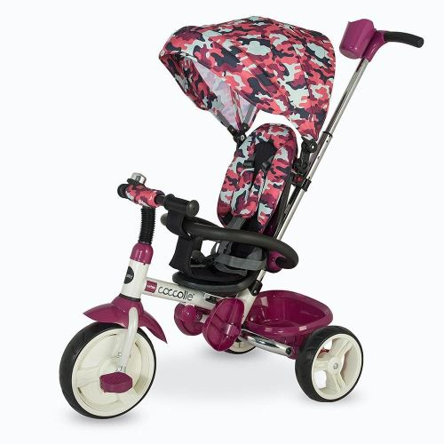 Coccolle Urbio foldable tricycle, limited edition, army Pink